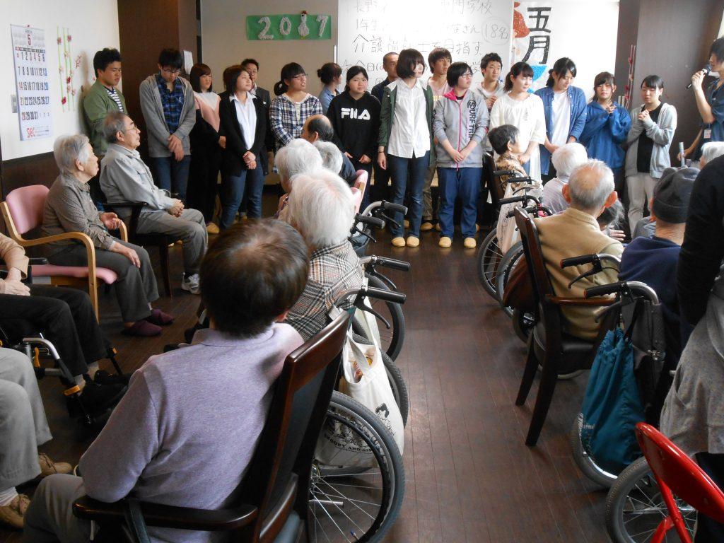 長野社会福祉専門学校学生の施設見学