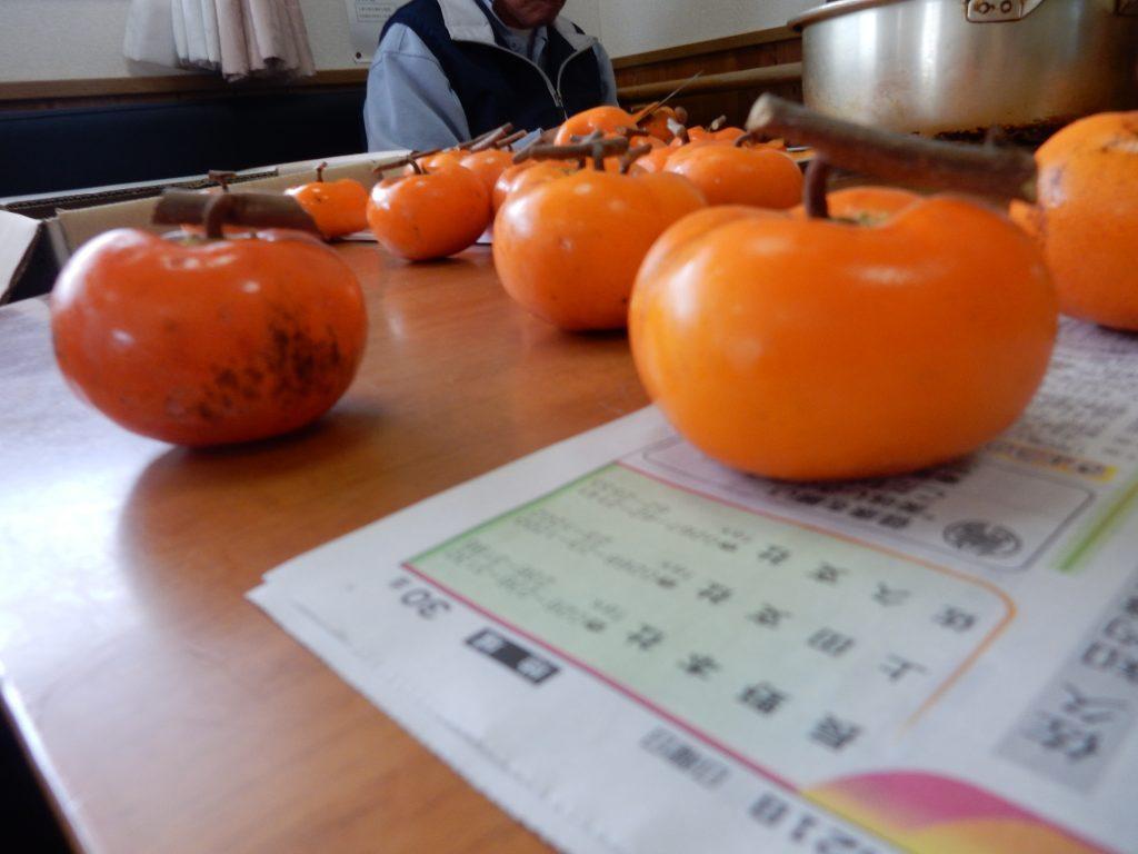 干し柿づくり(´▽`)