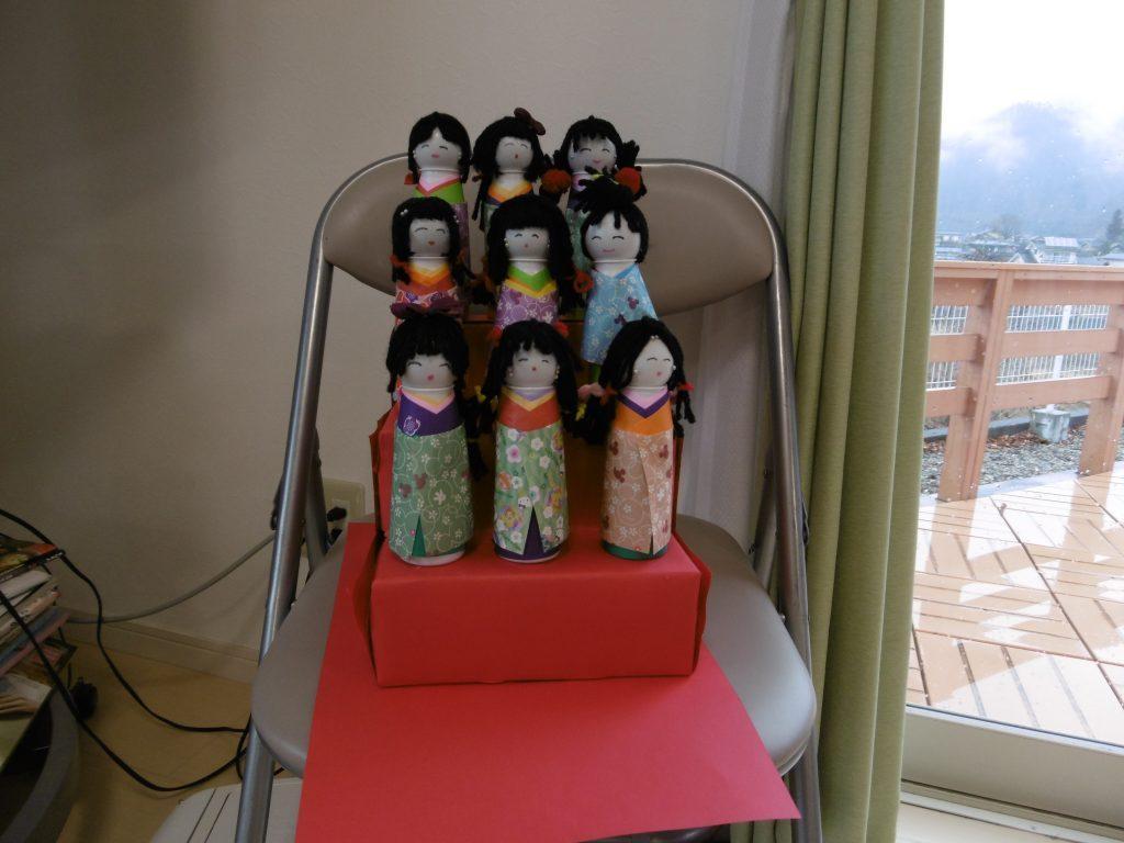 雛人形を作りました。